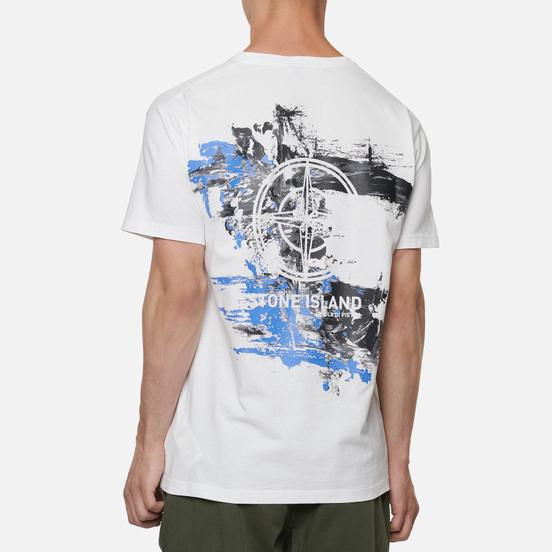 Мужская футболка Stone Island Paint Stroke 2 White