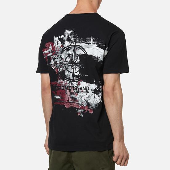 Мужская футболка Stone Island Paint Stroke 2 Black