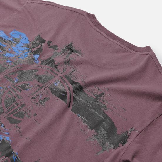 Мужская футболка Stone Island Paint Stroke 2 Magenta