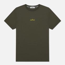 Мужская футболка Stone Island Paint Stroke 2 Moss