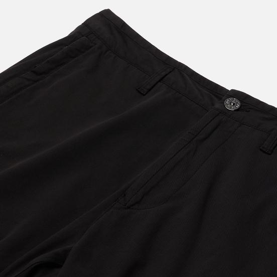 Мужские брюки Stone Island Cargo Stretch Gabardine Regular Tapered Fit Black