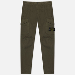 Мужские брюки Stone Island Cargo Stretch Gabardine Regular Tapered Fit Moss