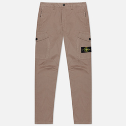 Мужские брюки Stone Island Cargo Stretch Gabardine Regular Tapered Fit Fango