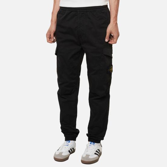 Мужские брюки Stone Island Cargo Jogging Regular Tapered Fit Black