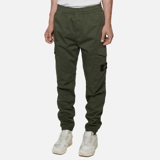Мужские брюки Stone Island Cargo Jogging Regular Tapered Fit Moss