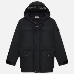 Мужская куртка парка Stone Island Micro Military Specification Reps Down Black