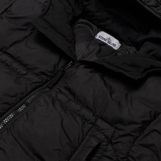 Мужской пуховик Stone Island Crinkle Reps Garment Dyed Black