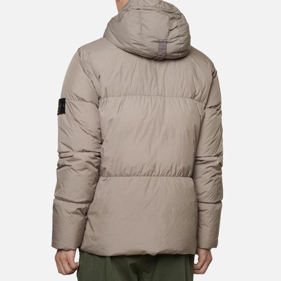 Мужской пуховик Stone Island Crinkle Reps Garment Dyed Fango
