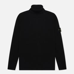 Мужской свитер Stone Island Turtle Neck Wool Black