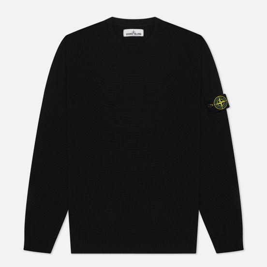 Мужской свитер Stone Island Classic Crew Neck Wool Black