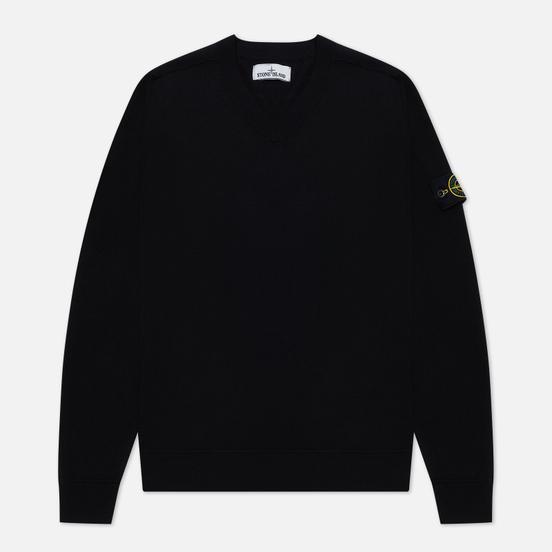 Мужской свитер Stone Island Classic V-Neck Wool Black