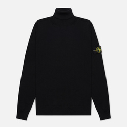 Мужская водолазка Stone Island Turtle Neck Wool Slim Fit Black