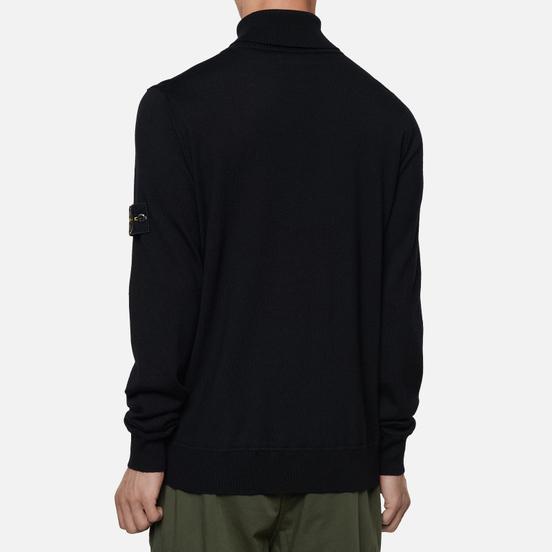 Мужская водолазка Stone Island Turtle Neck Wool Slim Fit Black