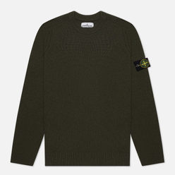 Мужской свитер Stone Island Classic Lightweight Wool Moss