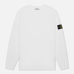 Мужская толстовка Stone Island Crew Neck Cotton Fleece White