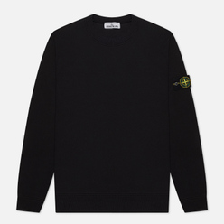 Мужская толстовка Stone Island Crew Neck Cotton Fleece Black