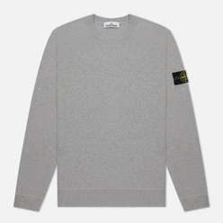 Мужская толстовка Stone Island Crew Neck Cotton Fleece Dust Grey Melange