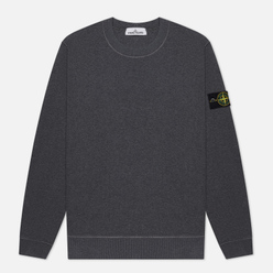 Мужская толстовка Stone Island Crew Neck Cotton Fleece Fumo Melange