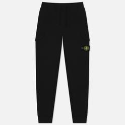 Мужские брюки Stone Island Regular Fit Brushed Cotton Fleece Black