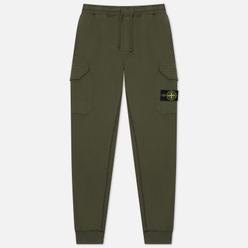 Мужские брюки Stone Island Regular Fit Brushed Cotton Fleece Moss