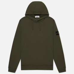 Мужская толстовка Stone Island Hooded Brushed Cotton Fleece Moss