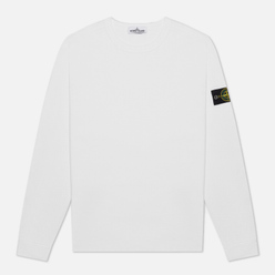 Мужская толстовка Stone Island Classic Crew Neck Heavyweight Cotton White