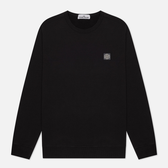 Мужская толстовка Stone Island Compass Patch Logo Crew Neck Black