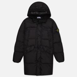 Мужская куртка парка Stone Island Garment Dyed Crinkle Reps Lightweight Nylon Down Black