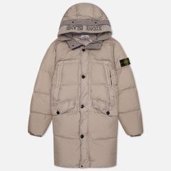 Мужская куртка парка Stone Island Garment Dyed Crinkle Reps Lightweight Nylon Down Fango