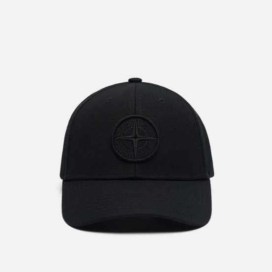 Кепка Stone Island Six Panel Wool/Polyester Gabardine Black