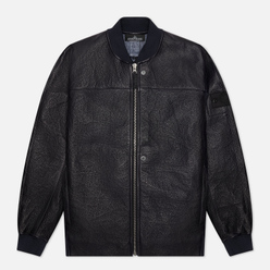 Мужская куртка бомбер Stone Island Shadow Project FSDX Dyneema Fused Leather Indigo