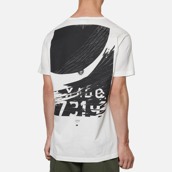 Мужская футболка Stone Island Shadow Project 7319 CXADO Print Back Natural White