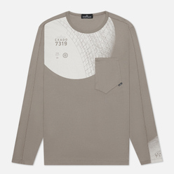Мужской лонгслив Stone Island Shadow Project 7319 CXADO Print Front Grey