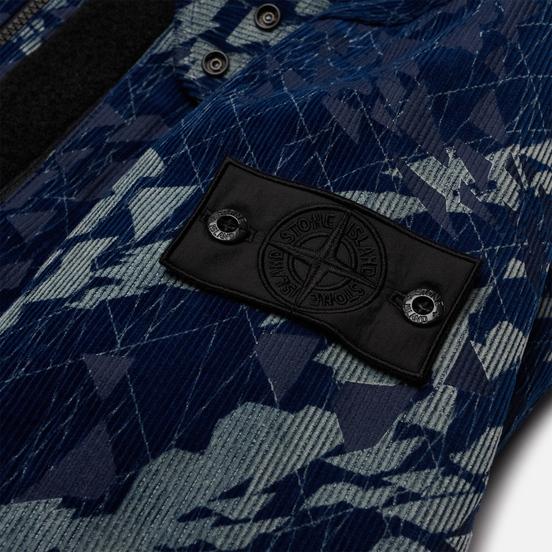 Мужская куртка Stone Island Shadow Project Corrosion Print Cord 3L Indigo