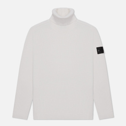Мужской свитер Stone Island Shadow Project Lana Wool Roll Neck Natural White