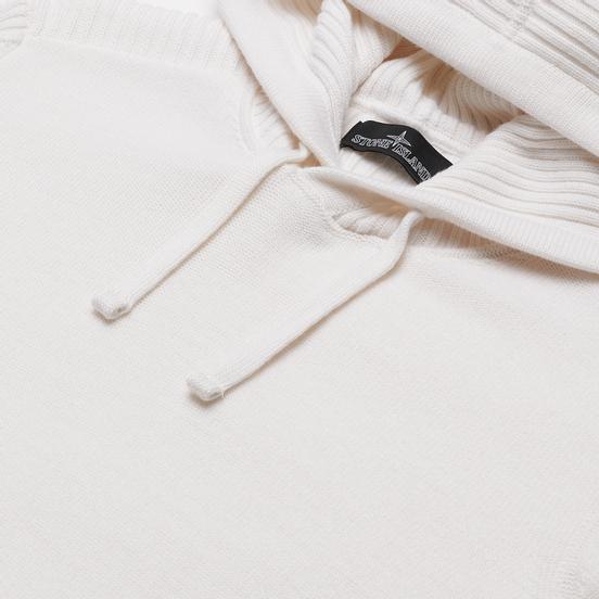 Мужской свитер Stone Island Shadow Project Lana Wool Popover Hoodie Natural White