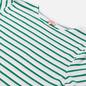 Мужская футболка Armor-Lux Heritage Mariniere Hoedic White/Billard Green фото - 1