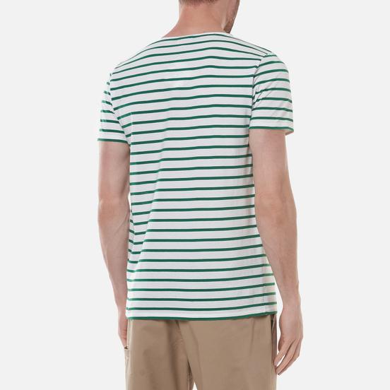 Мужская футболка Armor-Lux Heritage Mariniere Hoedic White/Billard Green