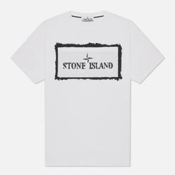 Мужская футболка Stone Island Stencil One White