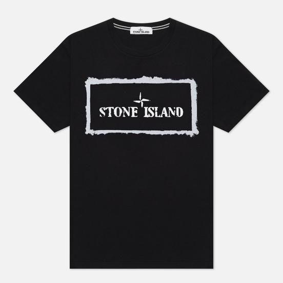 Мужская футболка Stone Island Stencil One Black