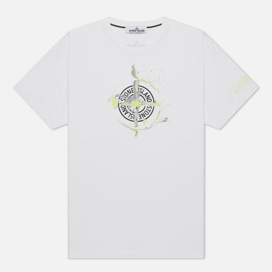 Мужская футболка Stone Island Marble One White
