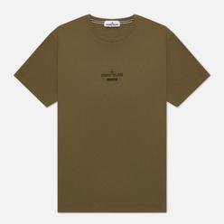Мужская футболка Stone Island Archivio Project Monobava Olive Green