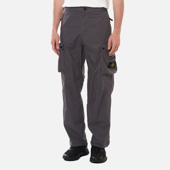 Мужские брюки Stone Island Cargo Light Stretch Cotton Tela Pewter Grey