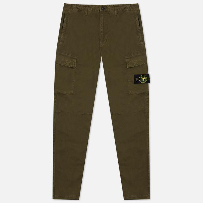 Фото - Мужские брюки Stone Island Stretch Broken Twill Garment Dyed OLD спортивные брюки stone island размер 8 128 голубой