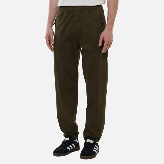 Мужские брюки Stone Island Ghost Piece Stretch Cotton Wool Satin Military Green
