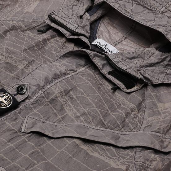 Мужская куртка парка Stone Island Reflective Grid Lamy-TC Pewter Grey