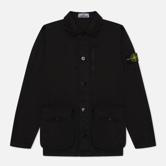 Мужская куртка Stone Island Brushed Cotton Canvas OLD Black