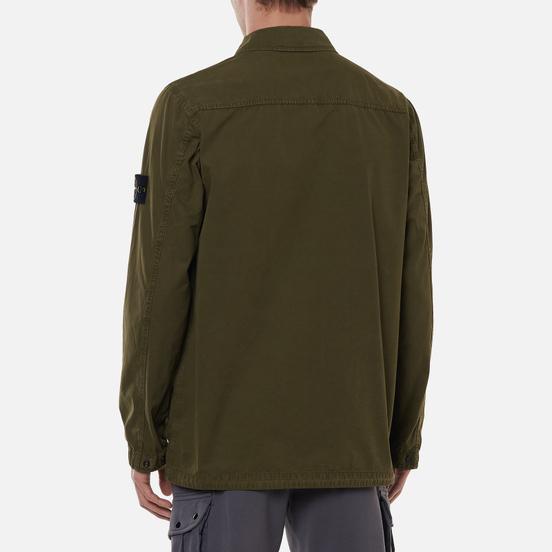 Мужская куртка Stone Island Brushed Cotton Canvas OLD Olive Green