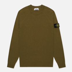 Мужской свитер Stone Island Crew Neck Light Raw Cotton Olive Green