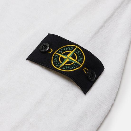 Мужской свитер Stone Island Hooded Cardigan White